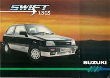Suzuki Swift 1985 UK Market Sales Brochure 1.3 GS 1.0 GA GL