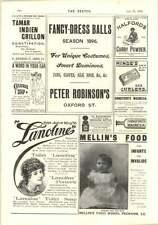 1896 Bovril Playfair Fancy Dress Ball Peter Robinson Halfords Curry Powder