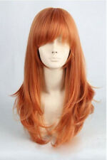 UKJF84  Hot sell! Popular long Straight Orange Cosplay Wig  wigs for women