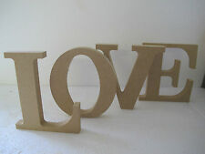 Wooden Freestanding Letters 'LOVE' 18mm