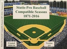 BJY Shipped CD 160+ MLB Statis-Pro Baseball compatible seasons 1871-2016