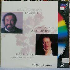 Pavarotti and Levine In Recital (Laser Disc)