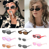 Fashion Women Oval Frame Sunglasses Small Glasses Ladies Retro Sun Glasses New D