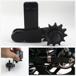 Black Steel Motorcycles Gearwheel Automatic Chain Tensioner Adjuster Square Fork