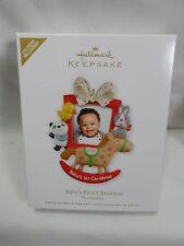 2012 HALLMARK Keepsake Ornament Baby's First Christmas Photo Holder Boy Girl