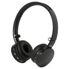 Écouteurs noirs microphone bluetooth sans fil