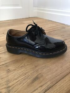Black Patent Leather Dr Martens Size 3 Shoes  10084