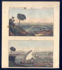 Mexico City - Mexiko - schwimmende Gärten - Kupferstich-Bertuch 1800