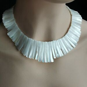 Handmade Natural Sea Shell Necklace Wedding Necklace Women's Necklace White