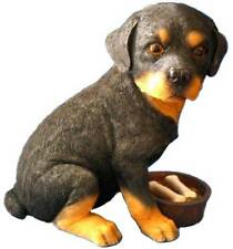 RETIRED ADORABLE ROTTWEILER PUPPY WITH FOOD BOWL MONEY BANK