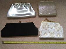 4 x Vintage Evening HandBags / Clutch Bags