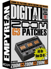 ZOOM G3 Patches Guitar Effects Pedal Tone Amp Presets Library Settings Win Mac
