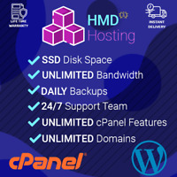 Professional Wordpress Hosting Fast SSD cPanel with Softaculous for 1 Year