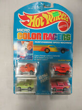 Vintage HOT WHEELS Micro Color Racers Classic Pack of 4 Cars #3229 - Mattel 1988