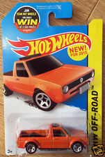 Hot Wheels VW Volkswagen Golf Rabbit Pick Up Caddy Truck - orange