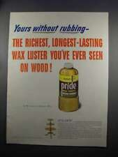 1951 Johnson's Pride Wax Ad - Yours Without Rubbing
