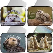 Personalised ANIMALS Tablet Laptop Cover Sleeve Universal Case Neoprene Cute