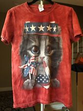 kitty cat Shirt Shirt Small Washed Red