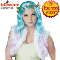 W617 Floral Fantasy Wig Halloween Fairy Fairytale Costume Pixie Hair Cosplay