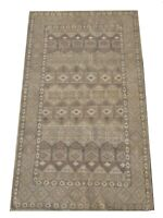 "5X8 Brown Moroccan Rug Hand-Knotted Wool Contemporary Carpet (5'2"" x 8'1"")"