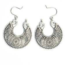 Silver Gold Aztec Tibetan Earing Women's Hoop Silver Earing Dangle Statement