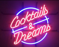 (cocktails and dreams) beer bar, storeroom, wall, neon sign, gift