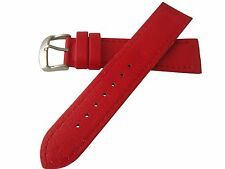 Hadley Roma Lorica Men's Vegan Leather Dive Watch Band Strap Red 22mm MS739