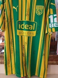 West bromwich albion Player Issue FULL 2020/21 SQUAD SIGNED SHIRT
