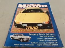 Dec 1984 MODERN MOTOR Mag COMMODORE SS GROUP 3 XF Falcon & Falcon History