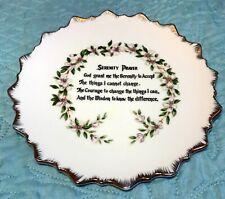 """Vintage """"Serenity Prayer"""" 7"""" Plate Trimmed Gold & Dogwood"""