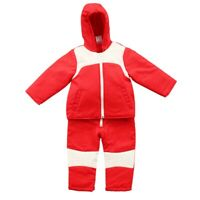 Toddler Baby Boys Girl Hooded Jacket Jumpsuit Coat Winter Snowsuit Red 12-24M