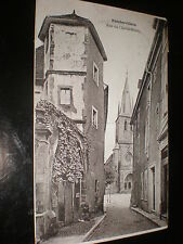 Old printed postcard Rue du cheval-blanc Rambervilliers France c1920s