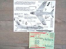 "CANADAIR SABRE MK.4 ""RCAF/SKYLANCERS 1956"" ARROW GRAPHICS DECALS 1/48"