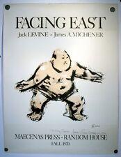 VTG JACK LEVINE SIGNED FACING EAST JAMES MICHENER BOOK POSTER PRINT SIGNED 1970
