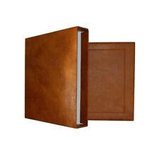 Boitier de protection pour reliure Yokama Safe aspect cuir naturel.