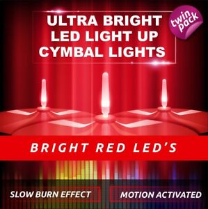 LIGHTENING BOLTZ- MEGA BRIGHT RED LIGHT UP CYMBAL LIGHT VIBRATION SENSITIVE