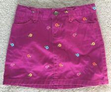 Gap Kids Girls EUC 7 Purple flower embroidery twill pocket skort ADORABLE !!
