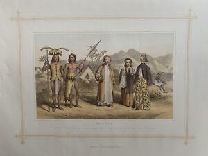1884 People & Costumes Of Malaya, Borneo, Java Easy Indies Antique Print
