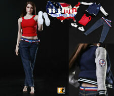 "1/6 Baseball Jacket Clothing Sneakers Set C For 12"" Hot Toys Phicen Figure ❶USA❶"