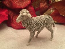 "Vintage Nativity Scene Sheep Christmas Italy 2"" Gray Standing Head Up Plastic"