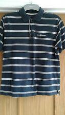 Men's Henri Lloyd Polo Shirt Size L Navy Blue and White