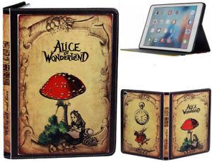 iPad Mini 1 2 3 4 5 Alice In Wonderland Smart Stand Fairy Tal Vintage Case Cover
