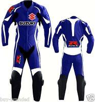 SUZUKI GSXR MOTOGP Motorcycle Leather Suit Racing Cowhide Motorbike Leather Suit