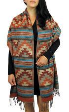 #5000 Geo Shawl Wrap Very Soft Alpaca Wool Throw Fashionable Lap Winter Scarf