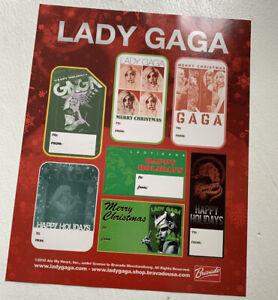 Lady GaGa Christmas Gift Tags (1 Sheet)