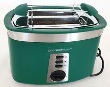 Design Toaster mit dekorativen Edelstahl-Applikationen Grün
