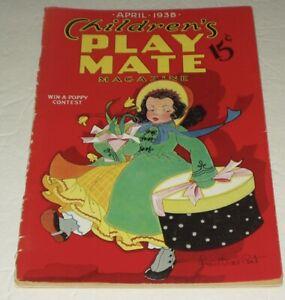 CHILDREN'S PLAY MATE MAGAZINE/APRIL 1938/ PAPER DOLL