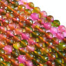 """New 8mm Multicolor faceted Tourmaline Round Loose Beads 15"""" AAA"""