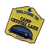 CAMP CRYSTAL LAKE - Friday 13th Enamel Pin Badge - Horror Movies, Novelty, Gift