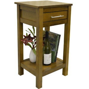 Small Bedside Cabinet Bedroom Side Sofa Table Stand Hall Furniture 1 Drawer Wood